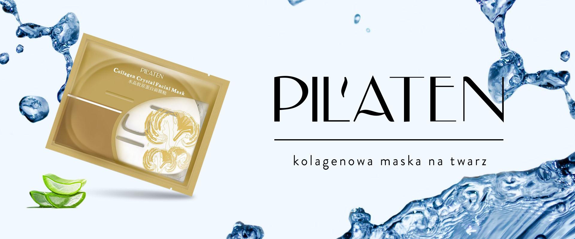 Pilaten krystaliczna kolagenowa maska na twarz